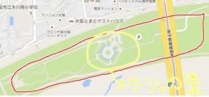 淀川河川公園 ケーシィの巣 位置